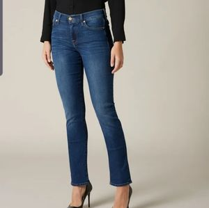 7 for mankind Roxanne mid rise slim fit jeans 27